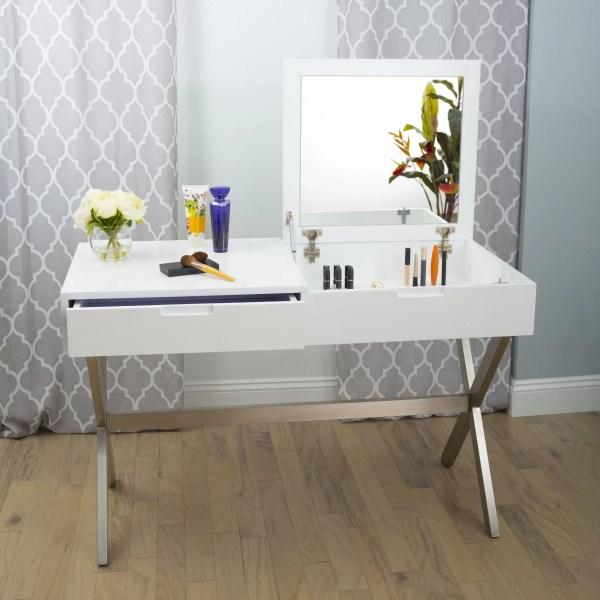 Wade Logan Ryker Desk Vanity Set With Mirror &
