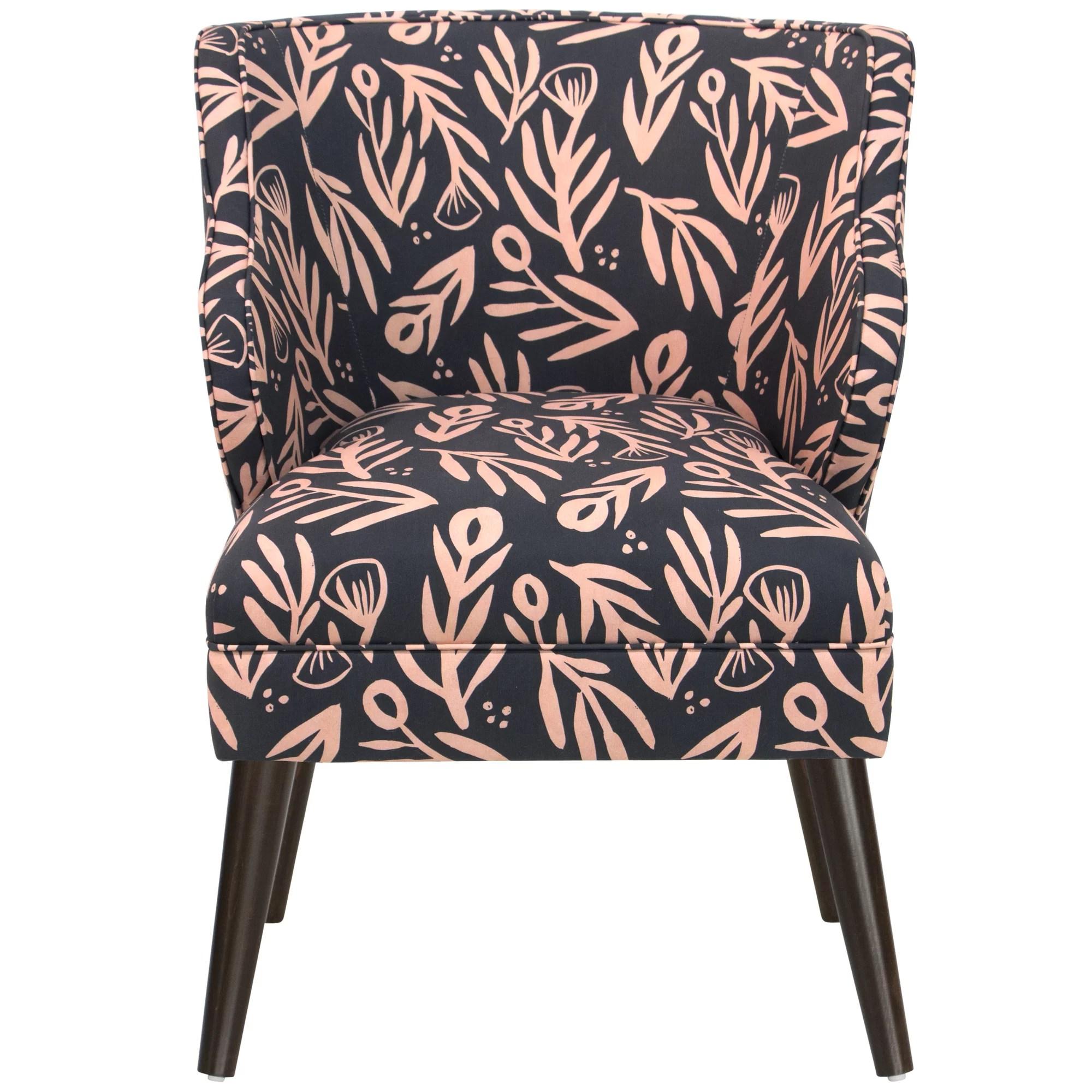 floral arm chair covers cheapest price brayden studio alejandra modern bold linen cotton