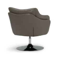 Leather Swivel Barrel Chair Hanging Pink Simpli Home Jasper Air