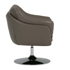 Leather Swivel Barrel Chair Knoll Barcelona Replacement Cushions Simpli Home Jasper Air
