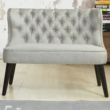 Doring Tufted Wing Back Settee Bedroom Bench