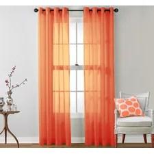 Orange Curtains & Drapes You'll Love Wayfair