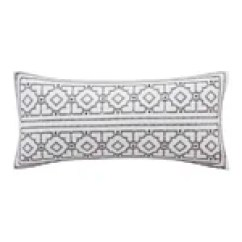 How To Decorate Oblong Living Room Light For Ceiling Ink + Ivy Nadia Dot Embroidered Cotton Throw Pillow ...