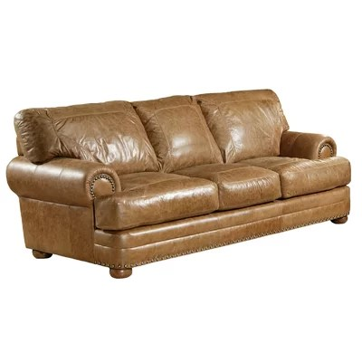 Omnia Leather Houston Sofa Reviews Wayfair
