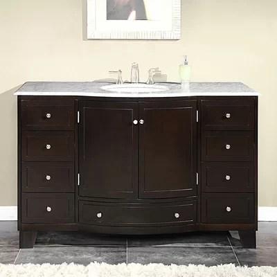"""silkroad exclusive naomi 55"""" single bathroom vanity set & reviews"""