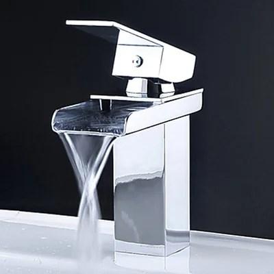 kokols single handle single hole waterfall bathroom sink faucet