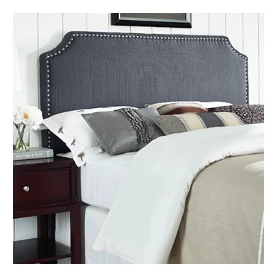 Mercury Row® Luna Nail Trim Upholstered Panel Headboard