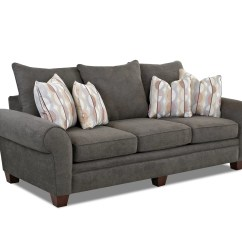Bentley Casual Sectional Sofa With Slipcover By Klaussner Grey Linen Klausner Home Furnishings Asheboro Nc Thesofa