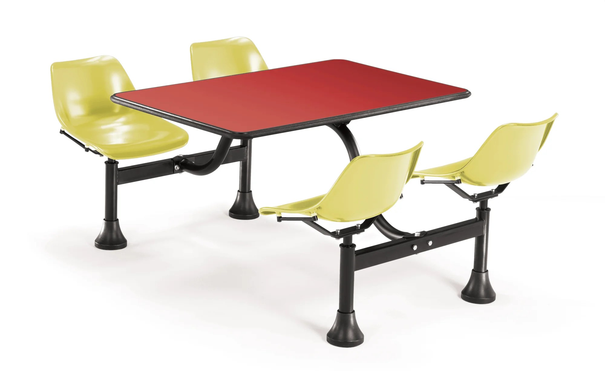 Cafeteria Chairs Details About Ofm Group Cluster Table And Chairs 65