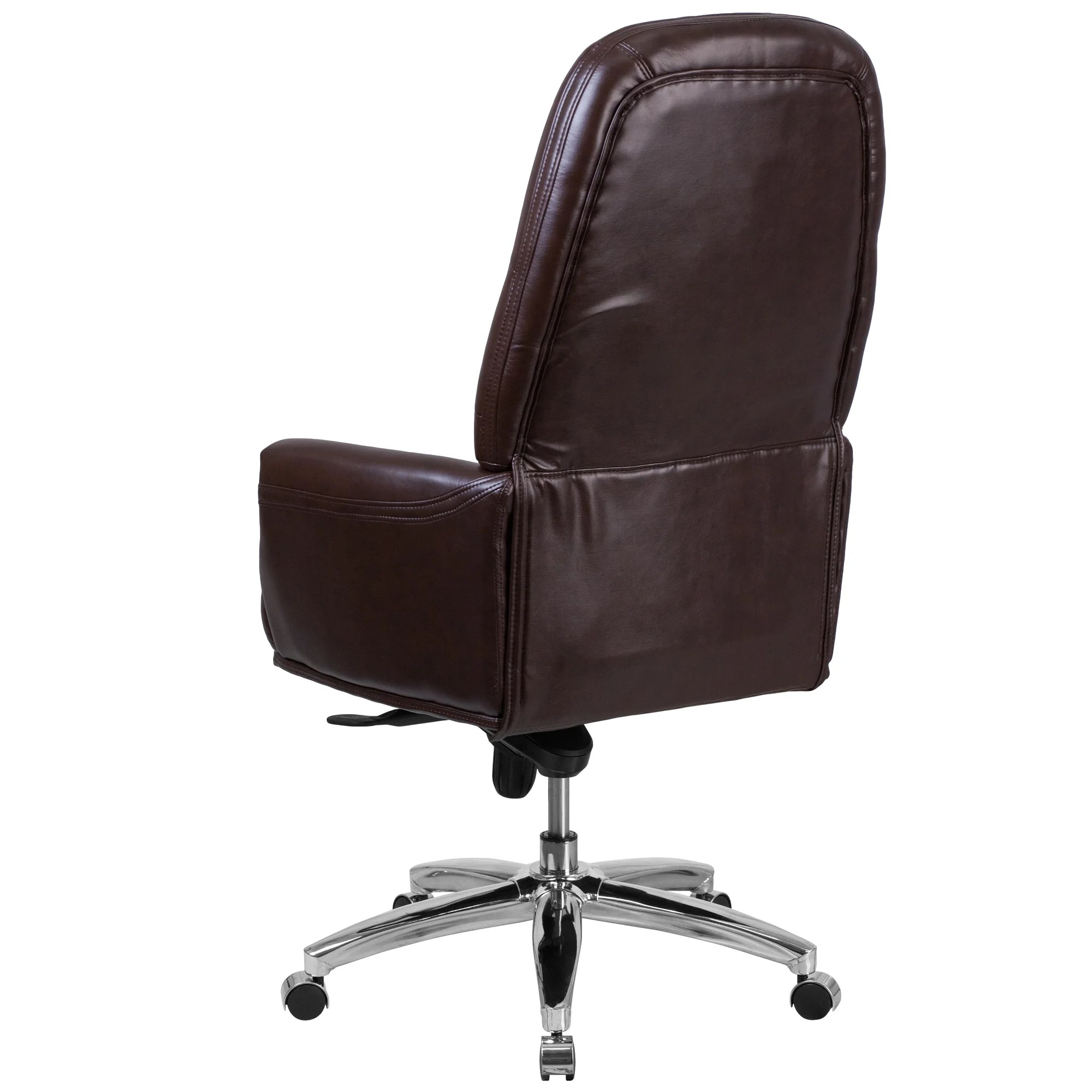 Tufted Leather Office Chair Details About Lamanna High Back Traditional Tufted 29
