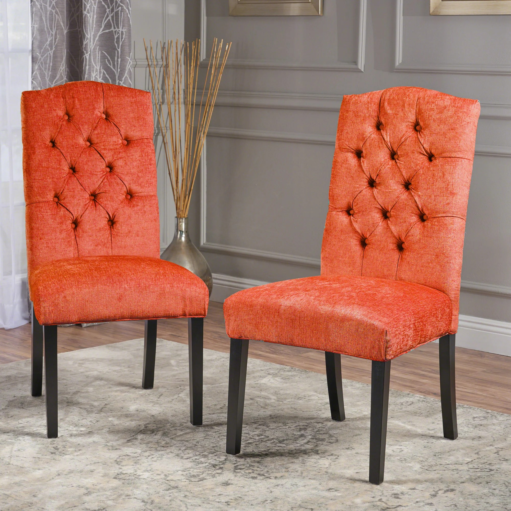 Red Upholstered Dining Chairs Details About Darby Home Co Radley Upholstered Dining Chair Red Set Of 2