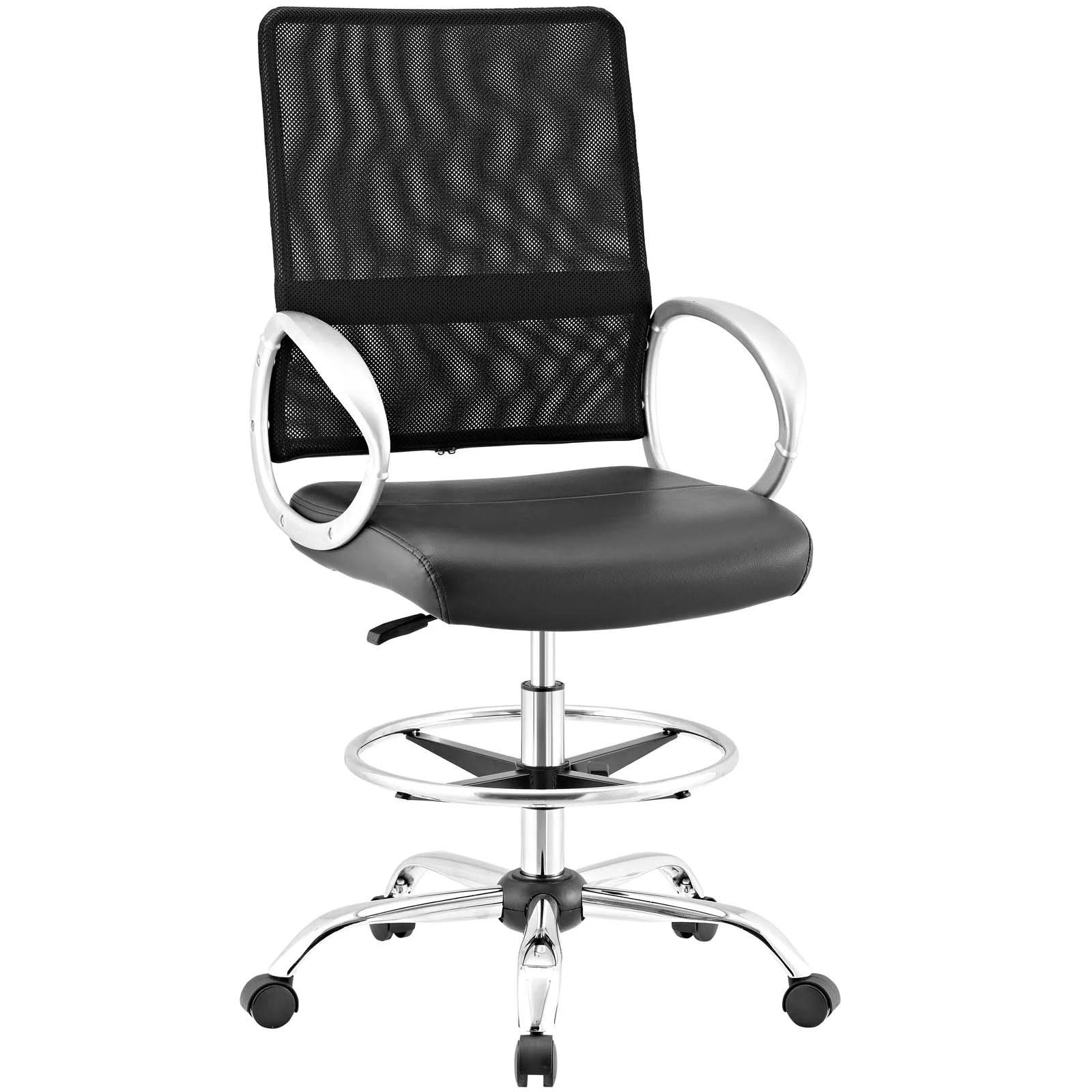mesh drafting chair aluminum rocking patio chairs orren ellis hamler ergonomic ebay details about