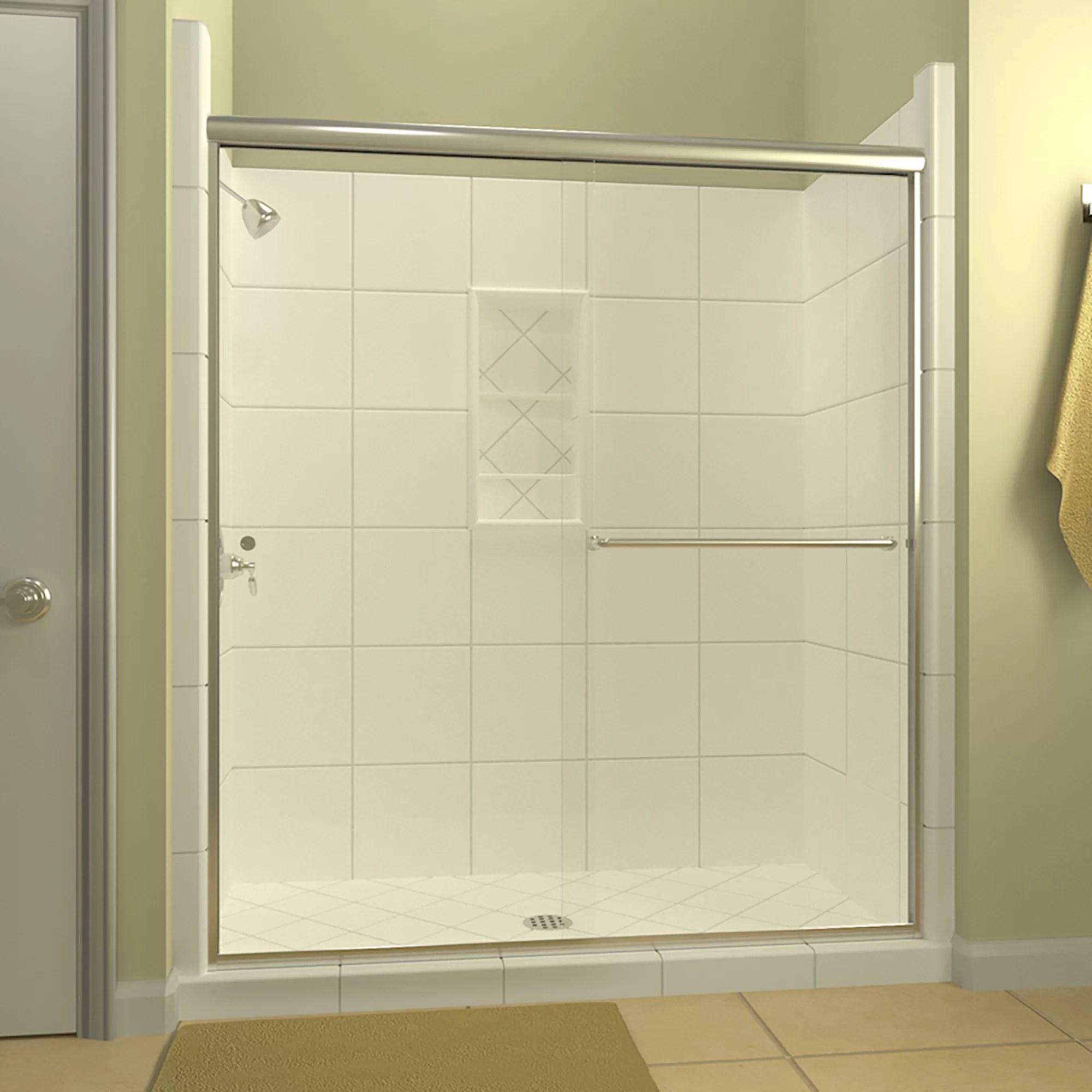 Details About Leser 60 X65 38 Bypass Semi Frameless Shower Door Right Opening Anodized Oil Ru