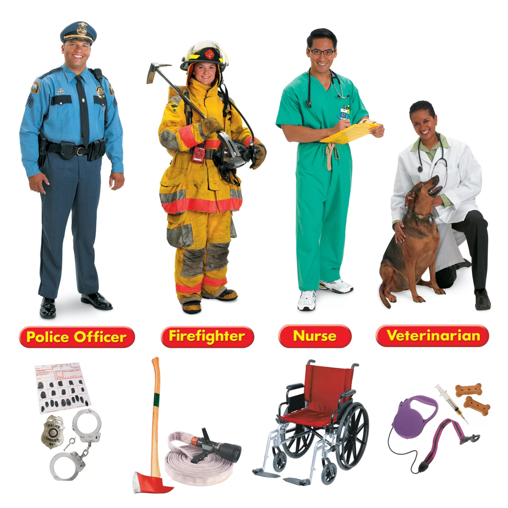 Trend Enterprises Inc 45 Piece Community Helpers