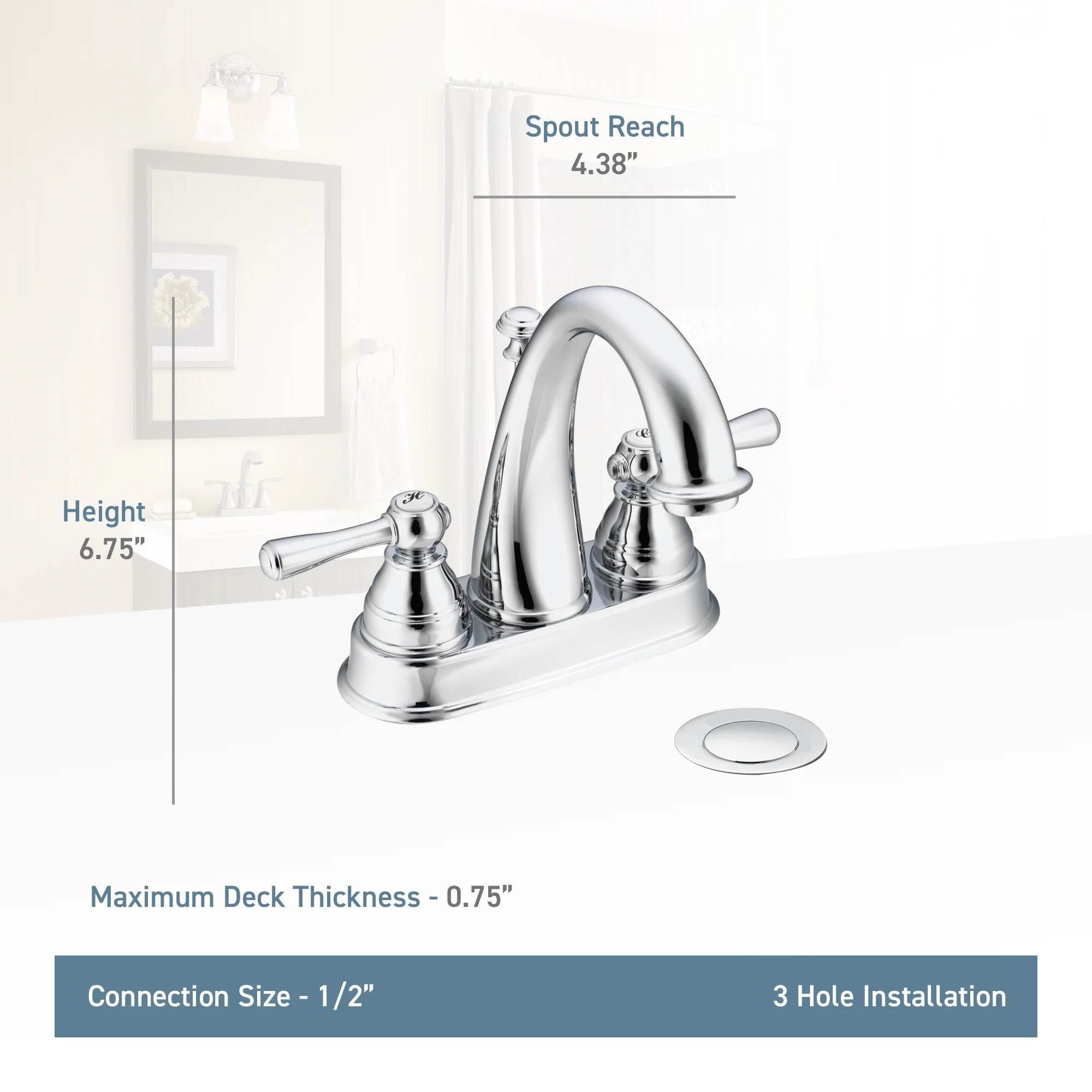 Moen Kingsley Bathroom Faucet Details About Moen Kingsley Two Handle Centerset High Arc Bathroom Faucet