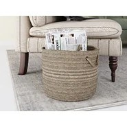 Nathanael Solid Fabric Storage Basket