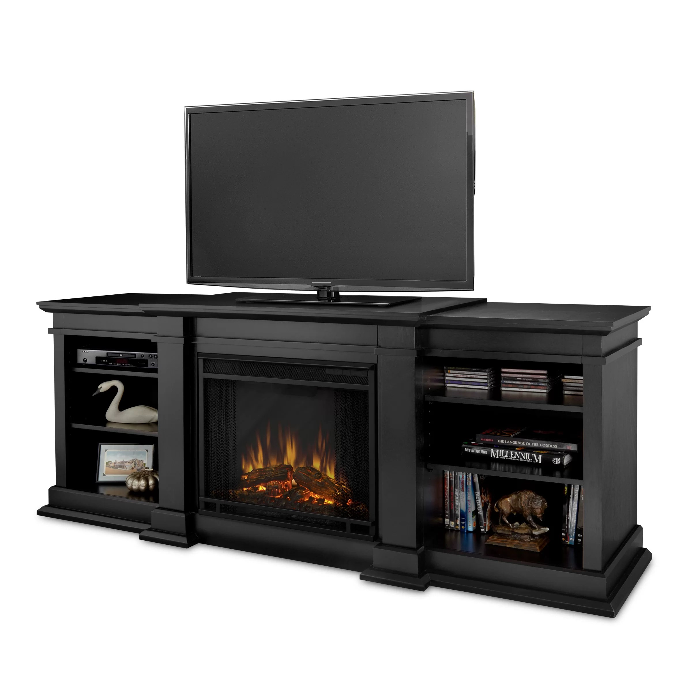 Real Flame Fresno TV Stand with Electric Fireplace  Reviews  Wayfair