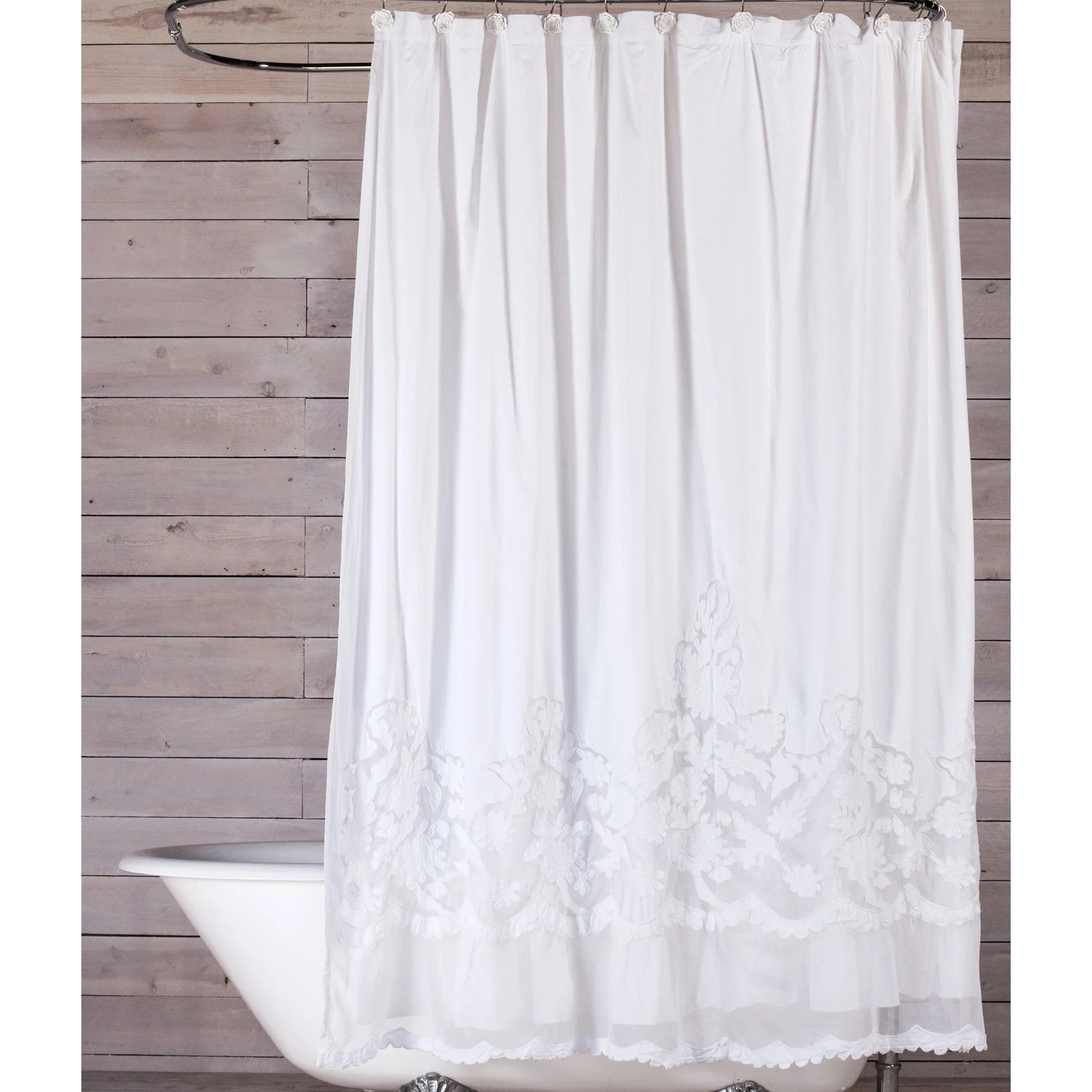 Pom Pom At Home Caprice Cotton Shower Curtain & Reviews Wayfair