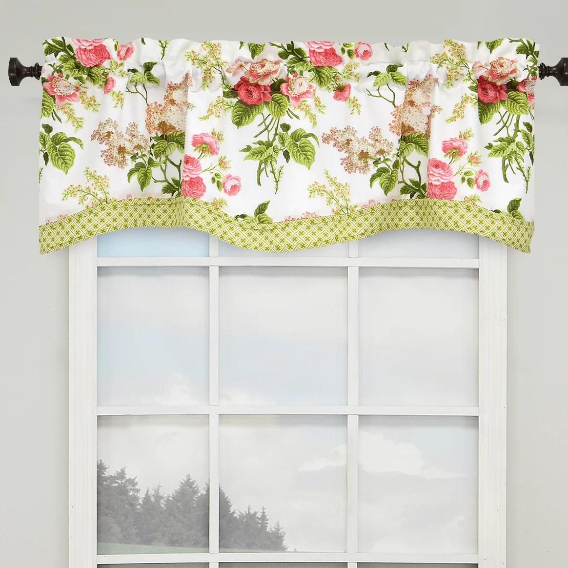 Waverly Emma S Garden 52 Lined Window Curtain Valance