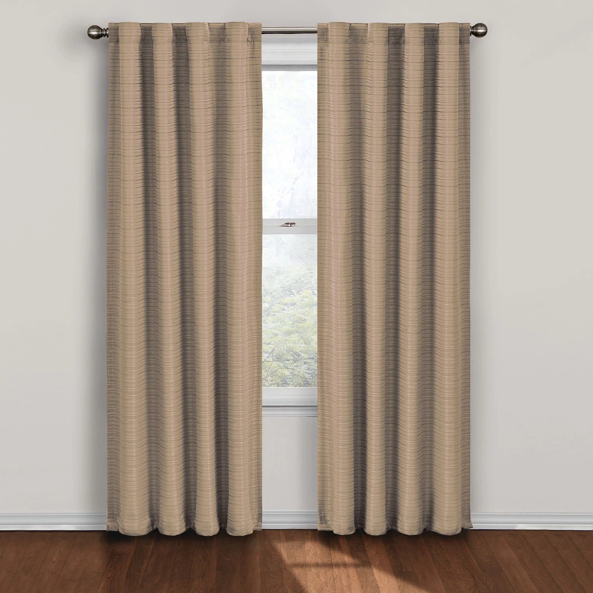 Eclipse Curtains Twist Rod Pocket Thermal Blackout Single Curtain