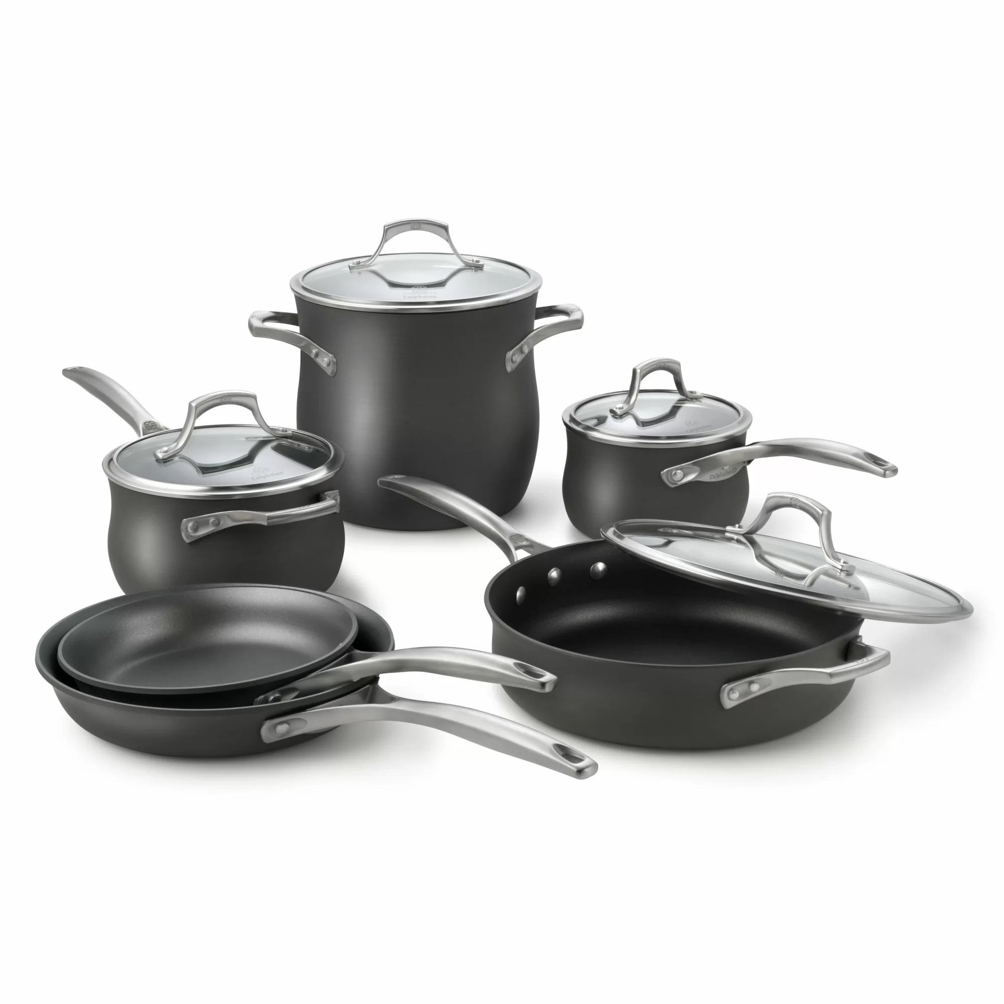 kitchen essentials by calphalon miele unison nonstick 10 piece cookware set and reviews