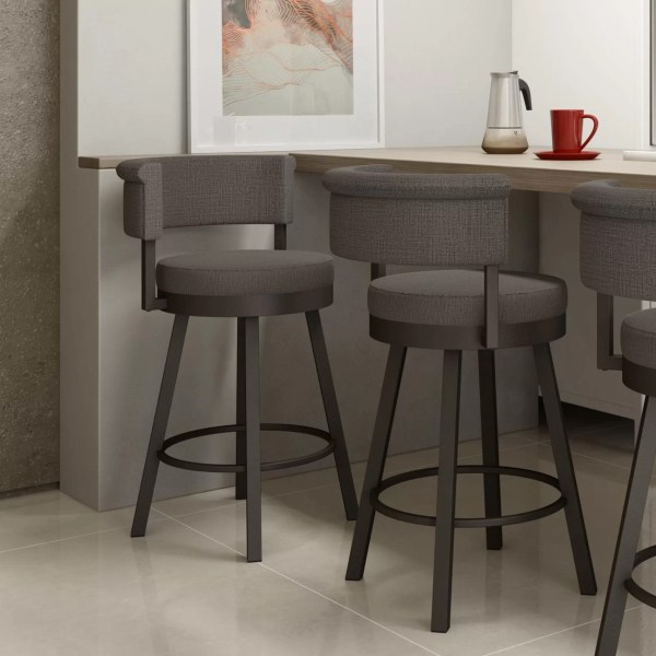 "Amisco Rosco 26.75"" Swivel Bar Stool"