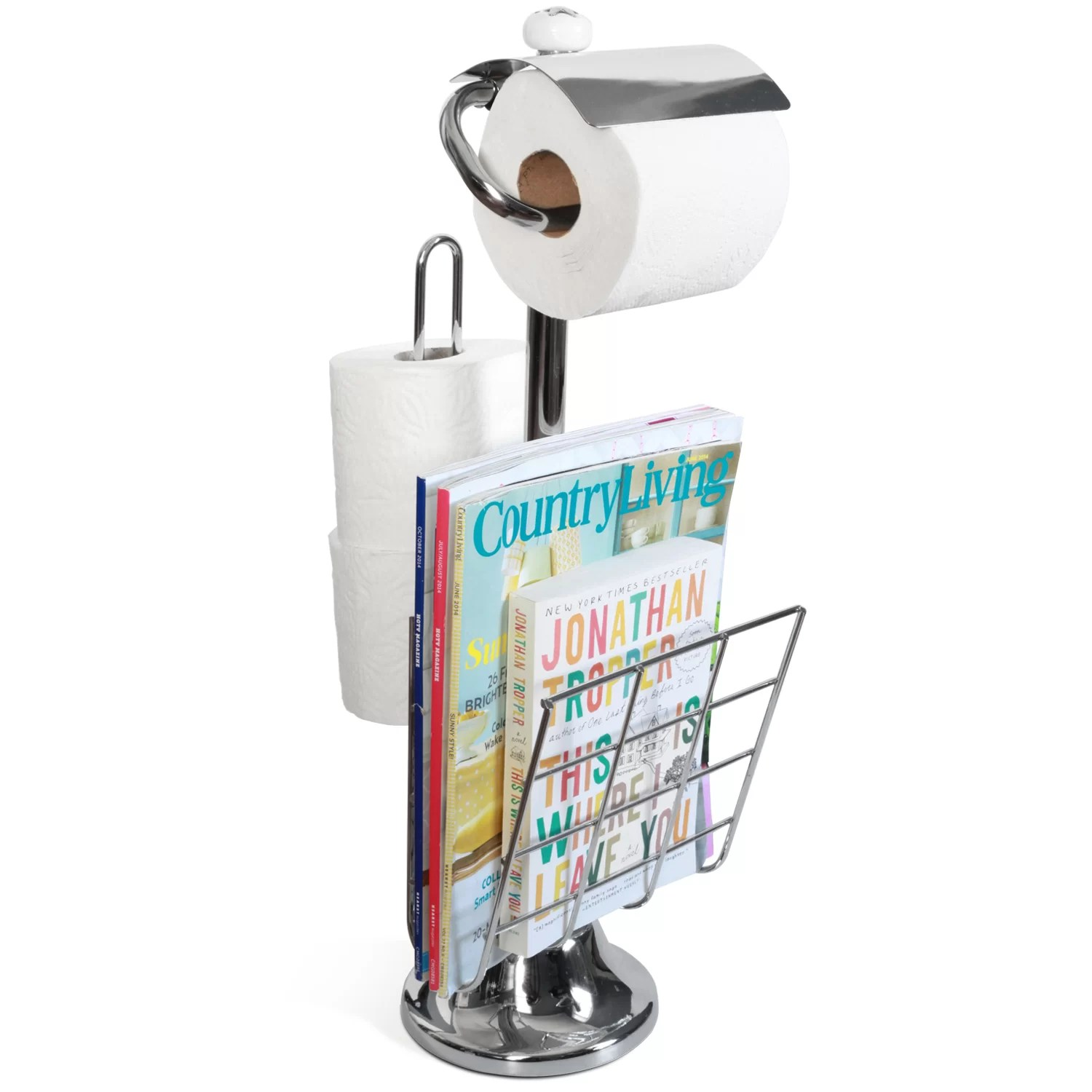 Toilet Tree Products Freestanding Toilet Paper Holder and