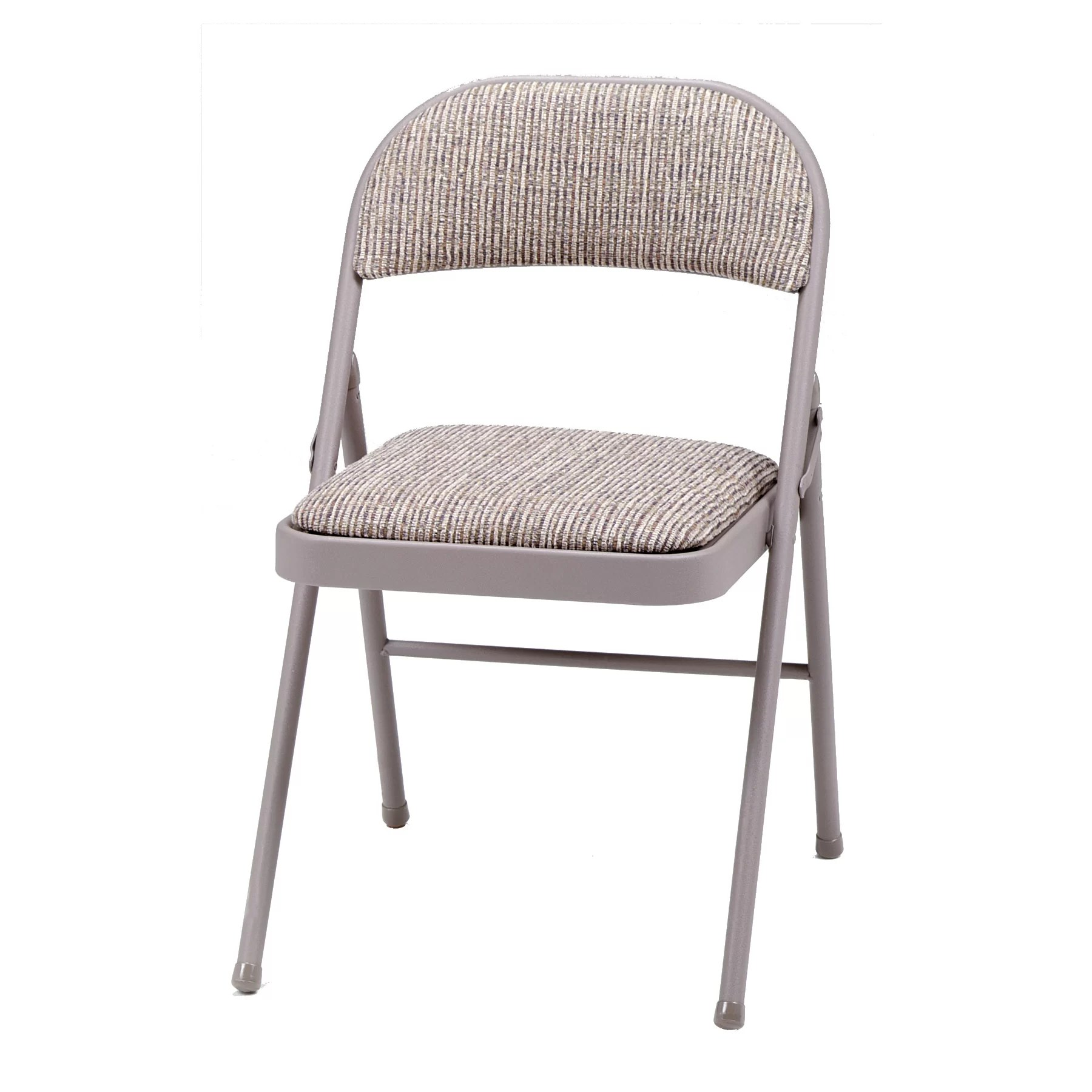 Upholstered Folding Chairs Meco Deluxe Fabric Padded Folding Chair And Reviews Wayfair