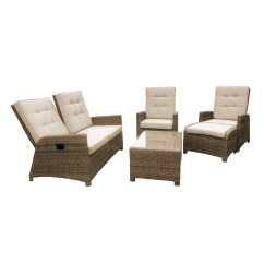 Maze Rattan Half Moon Sofa Set Grey Buy Leather Reef Comoros Energywarden