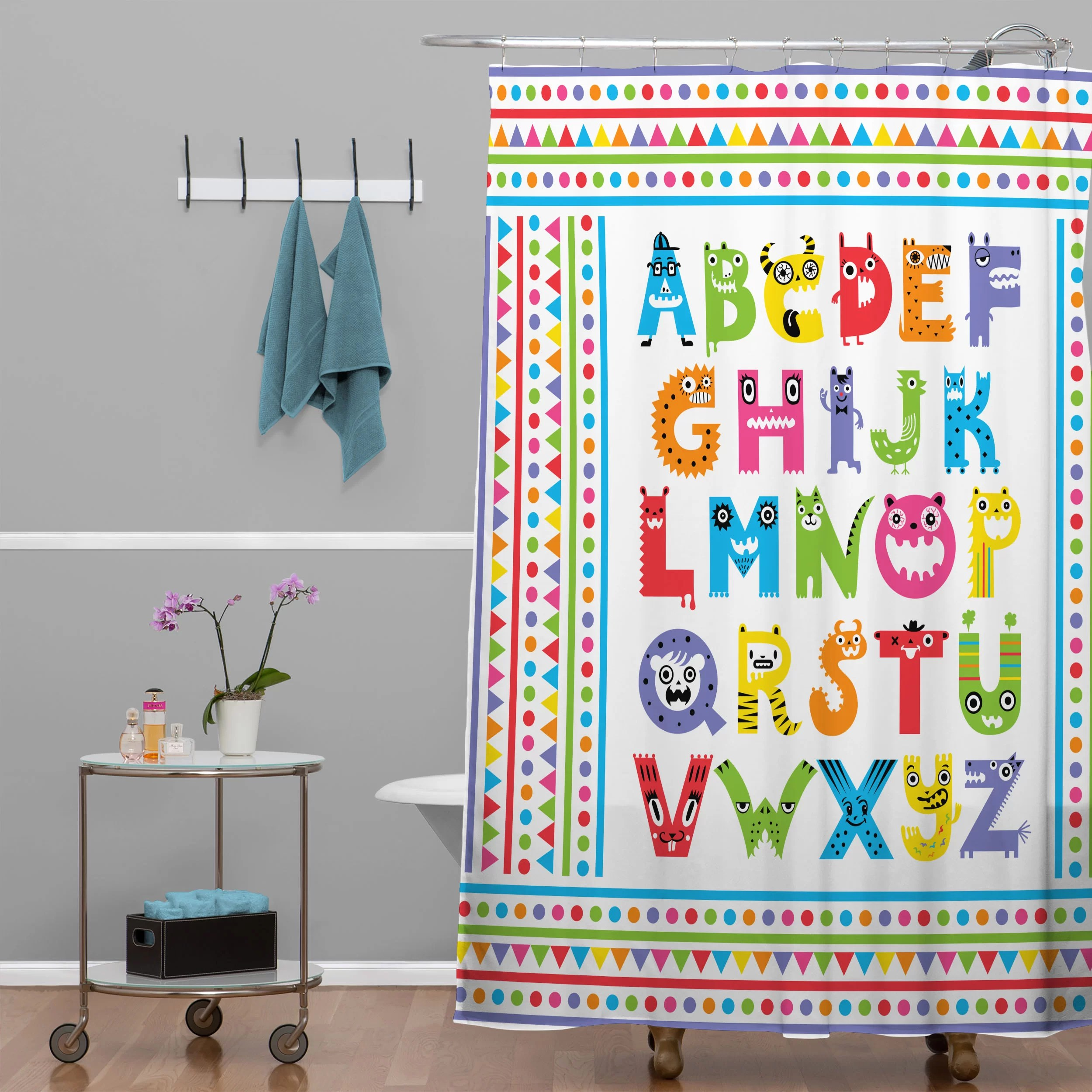 Deny Designs Andi Bird Alphabet Monsters Shower Curtain & Reviews