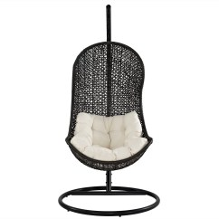 Swing Chair With Stand Kuwait Wicker Desk And Modway Gamble Reviews Wayfair