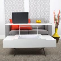 Matrix Stelar White Lift-top Rectangular Coffee Table