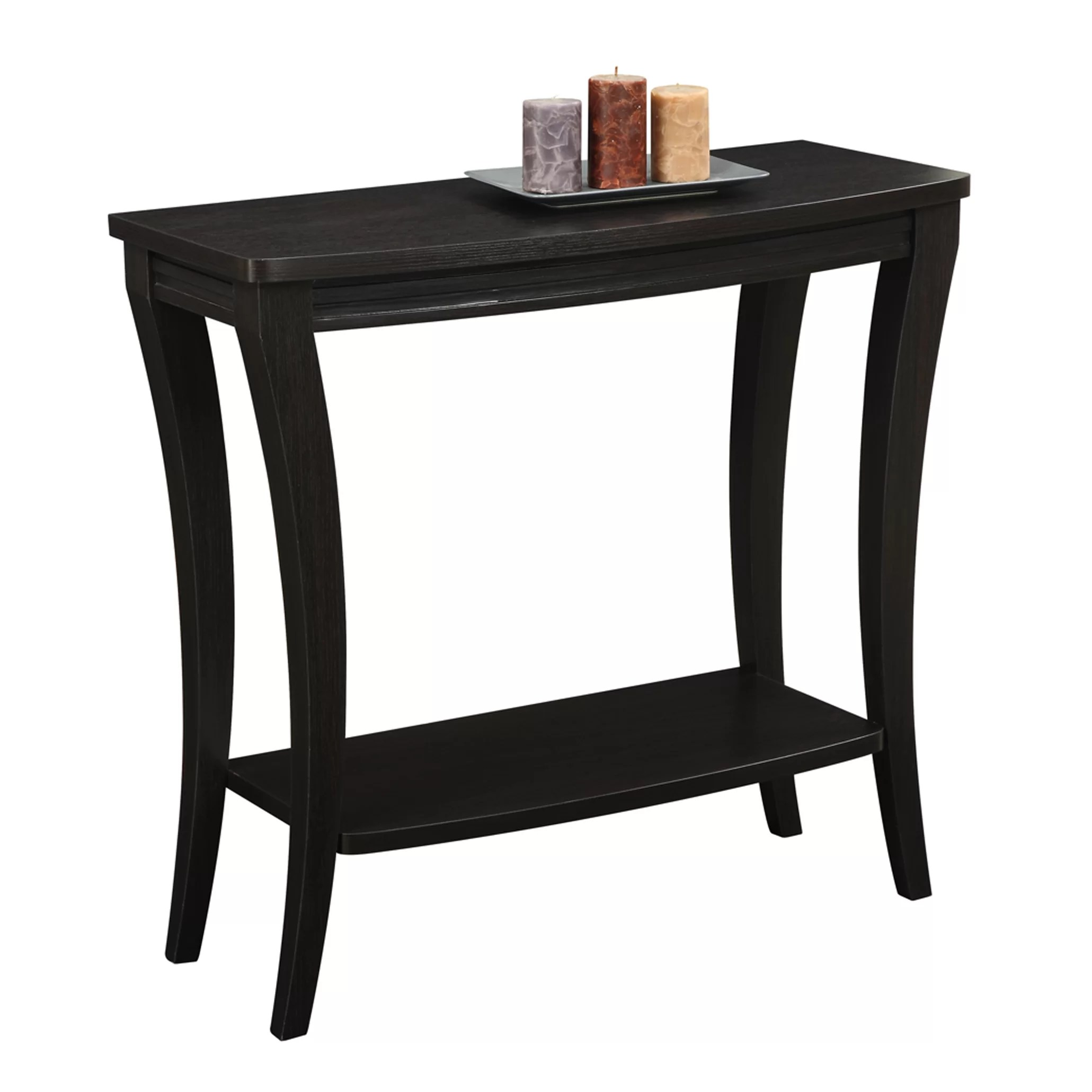 havertys newport sofa table ikea leather singapore convenience concepts console ii and reviews