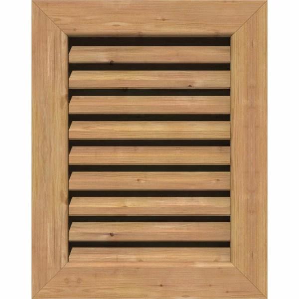 Ekena Millwork Cedar Vertical Gable Vent Louver