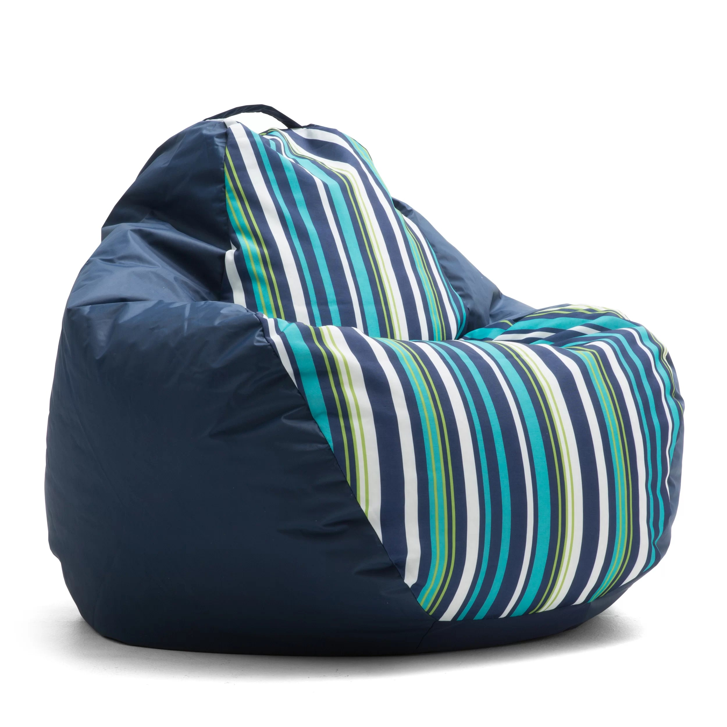 Outdoor Bean Bag Chairs Comfort Research Big Joe Outdoor Teardrop Cozumel Stripe