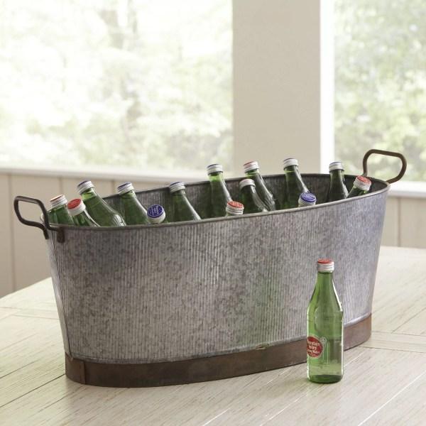 Birch Lane Galvanized Oval Beverage Tub & Reviews   Wayfair
