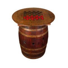 Whiskey Barrel Pub Table And Chairs Folding At Lowes Napa East Collection Wayfair