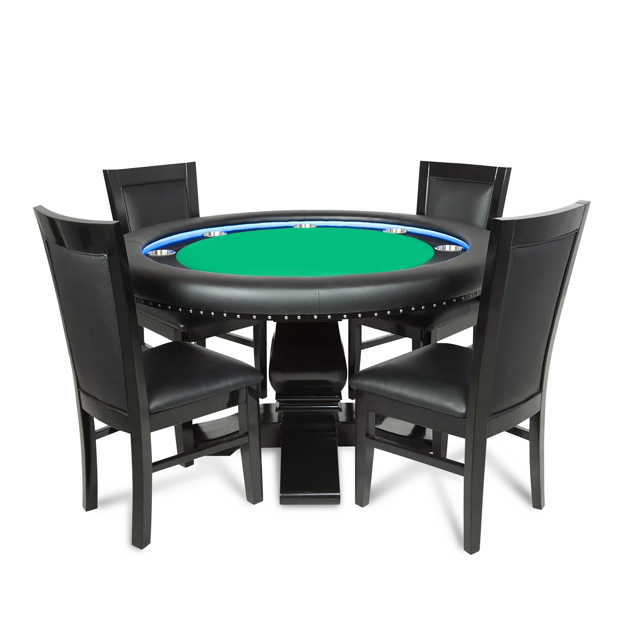 led table and chairs chair lifts for home bbo poker green suited speed cloth ginza