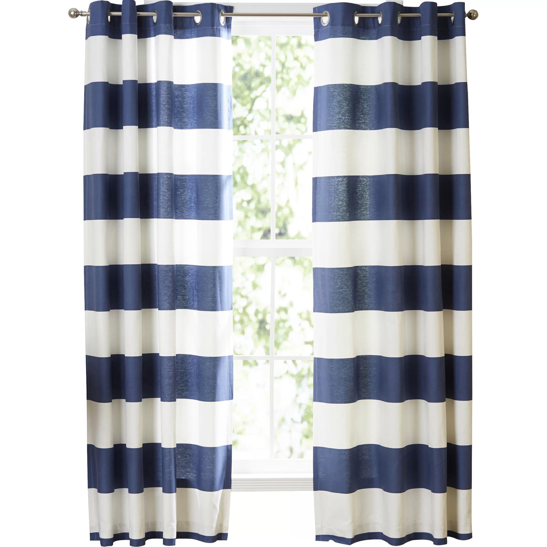 Nautica Nautica Cabana Stripe Curtain Panels & Reviews Wayfair
