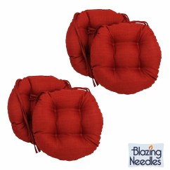 16 Round Chair Cushions Chairs For Elderly Riser Recliner Blazing Needles Inch Outdoor