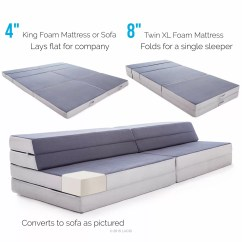 Lucid 4 Inch Folding Mattress And Sofa With Removable Indoor Outdoor Fabric Cover Full Size Kasala Sectional Queen Images Of