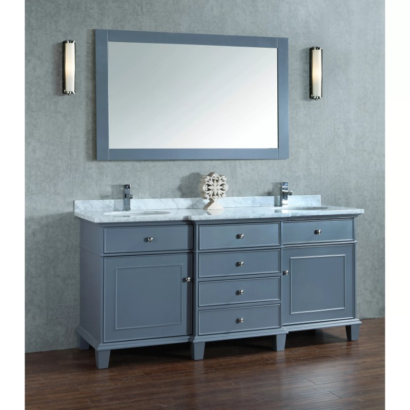 Melton 72 Double Sink Bathroom Vanity Set with Mirror