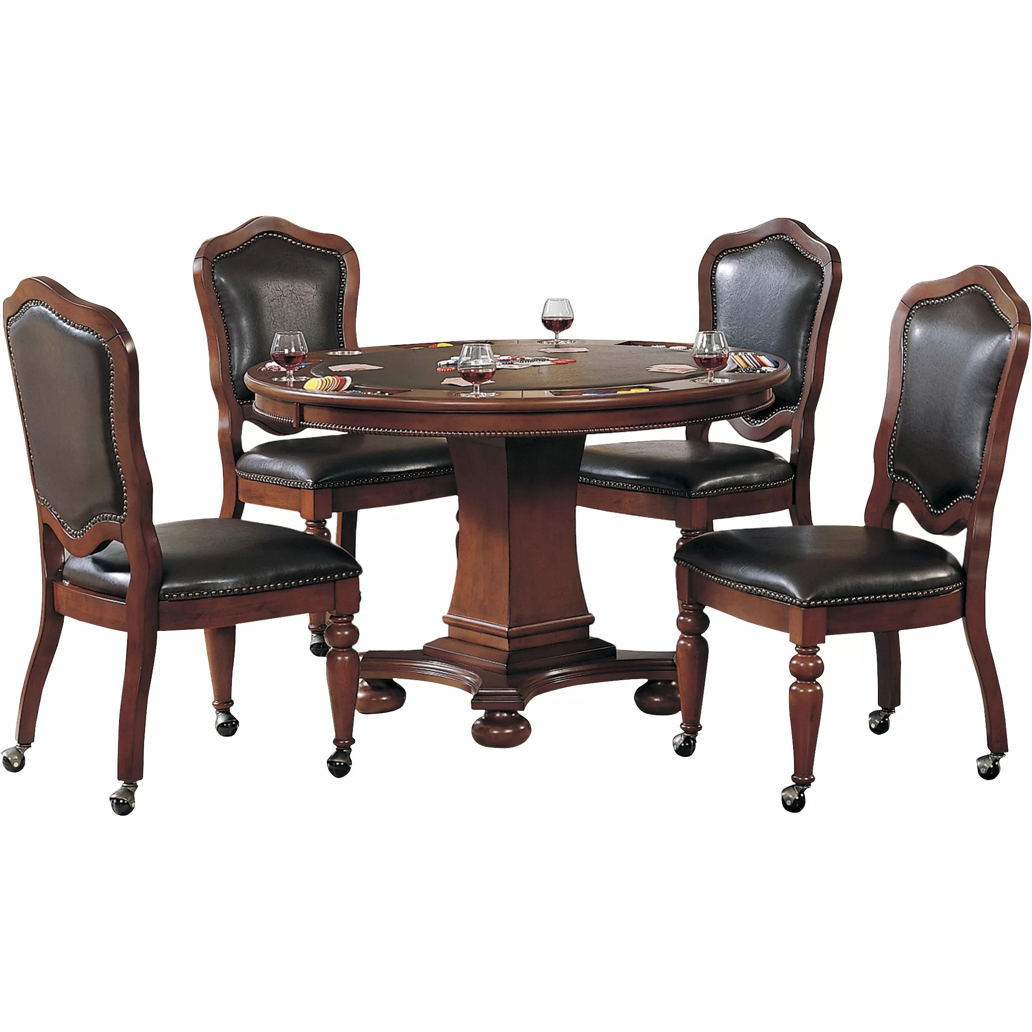 Poker Table And Chairs Sunset Trading 48 Quot Bellagio Poker Table And Chair Set