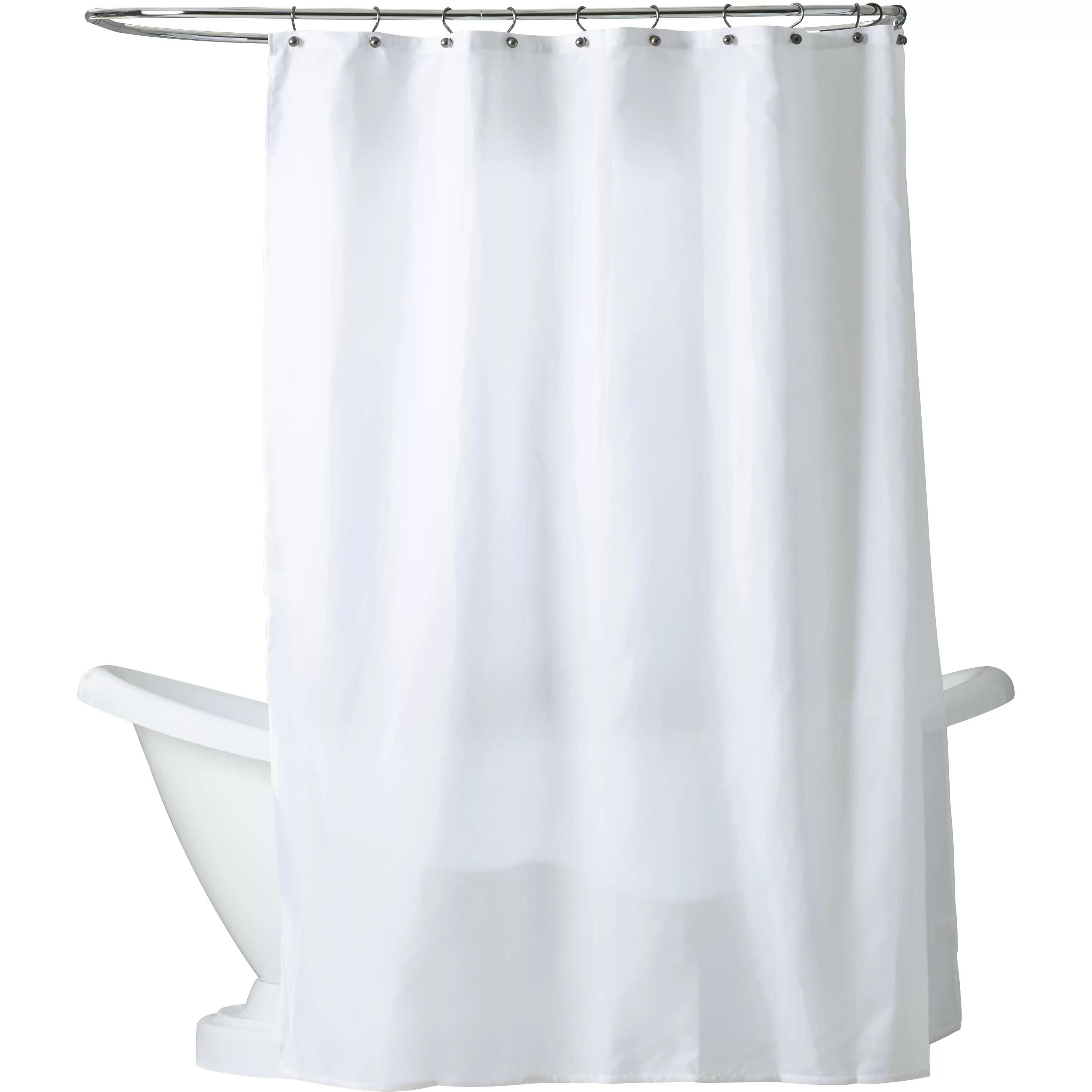 Charlton Home Tamesbury Nylon Shower Curtain Liner & Reviews Wayfair