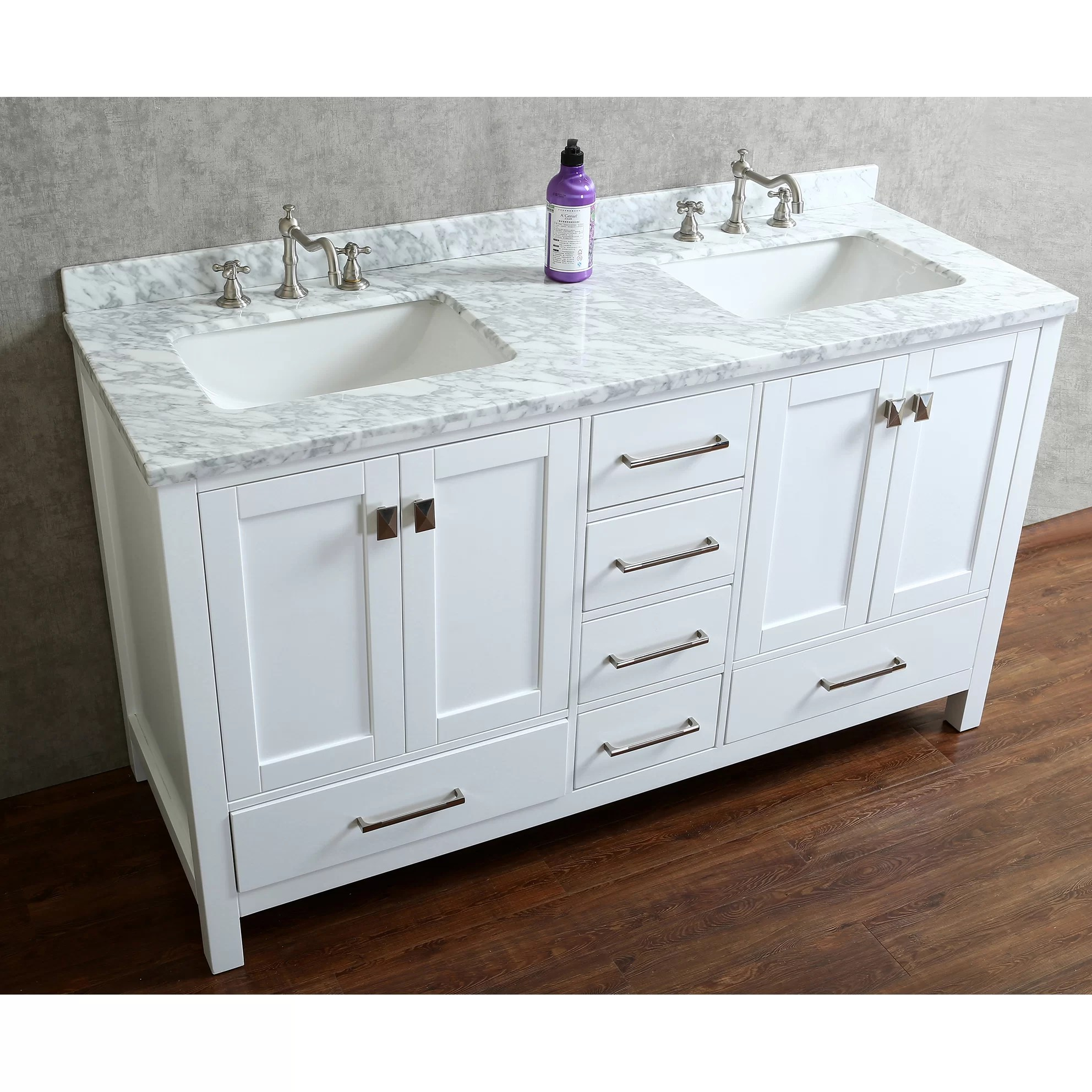 Ari Kitchen  Bath Bella 60 Double Bathroom Vanity Set