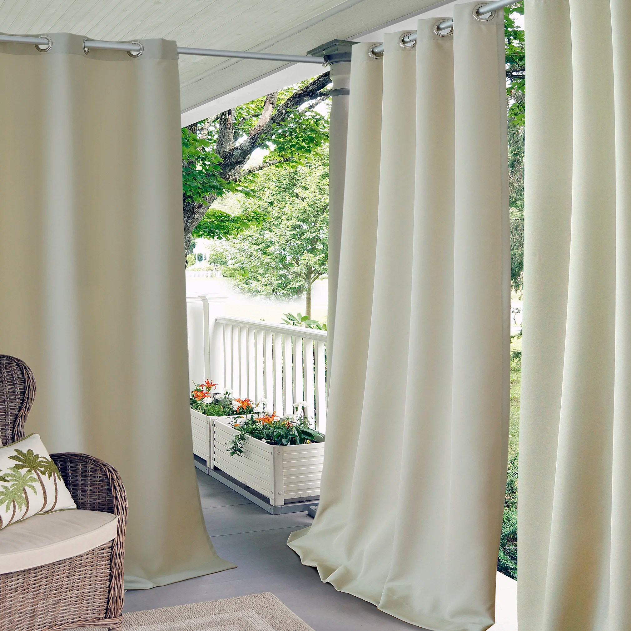 elrene home fashions connor indoor outdoor curtain panel u0026 reviews