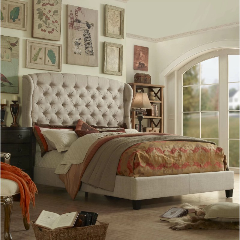 Felisa Upholstered Panel Bed