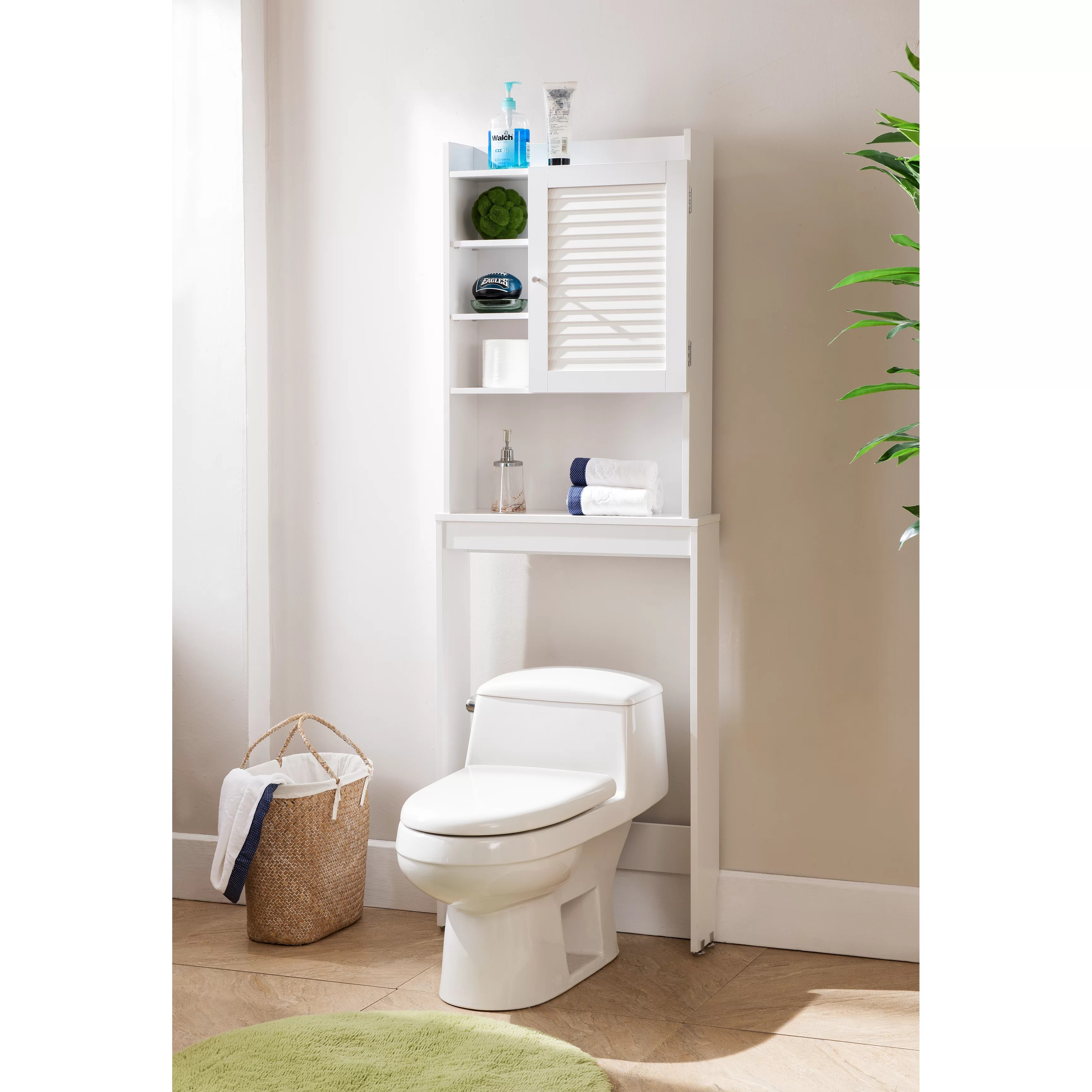 Beachcrest Home Hollister 24 W x 67 H Over the Toilet