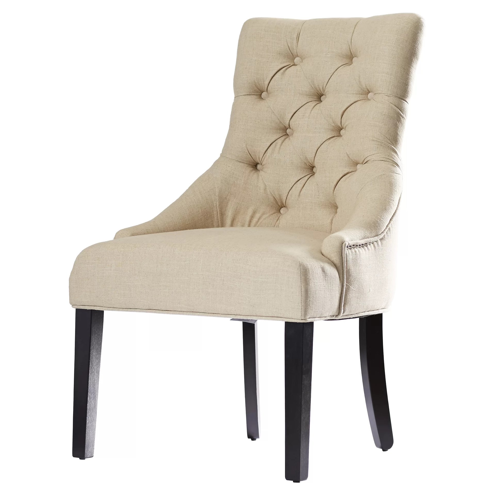 tufted nailhead chair optometry and stand for sale house of hampton jodie parsons