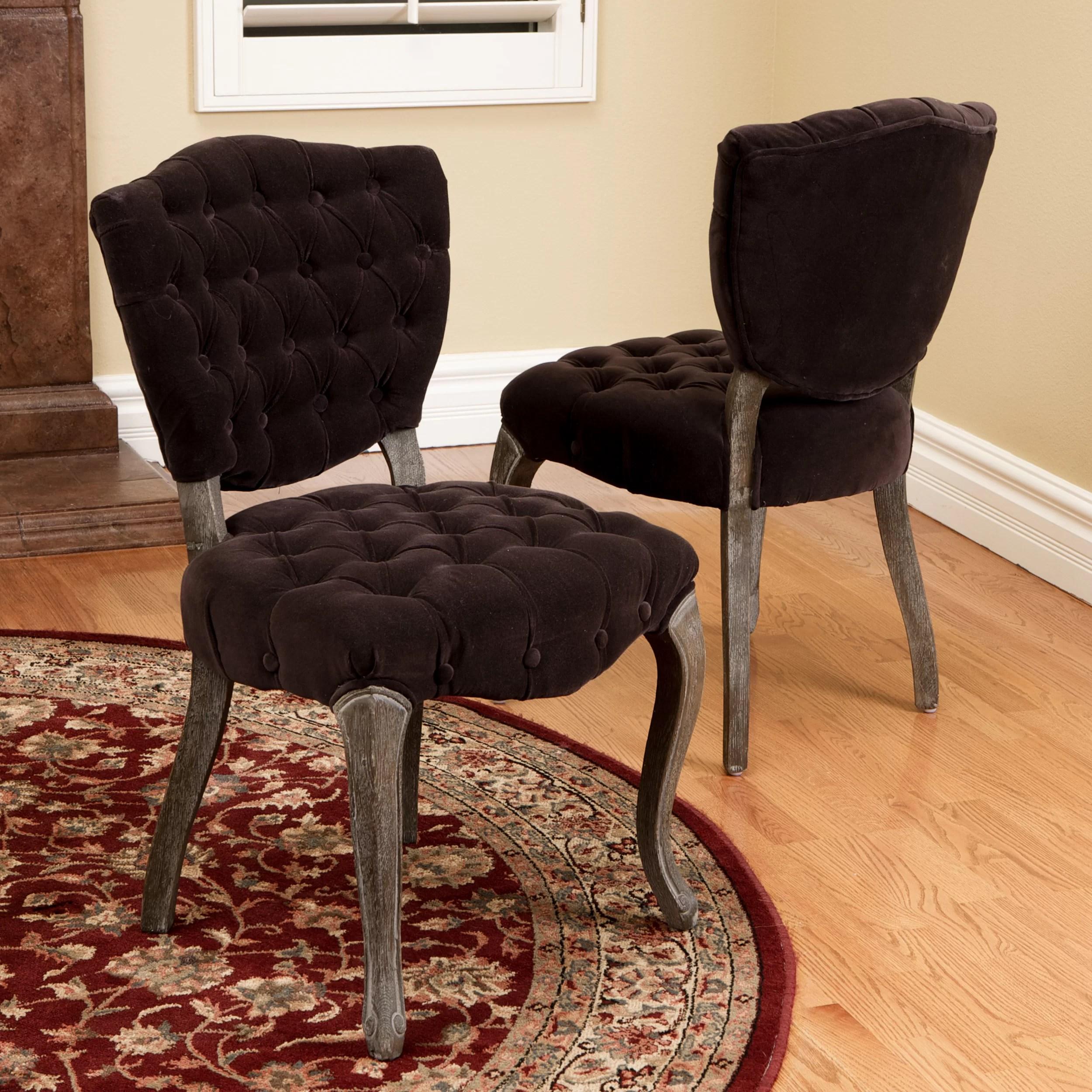 tufted side chair swivel amazon house of hampton daniel and reviews wayfair